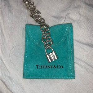 Tiffany padlock silver bracelet